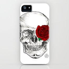 Rose Skull iPhone Case