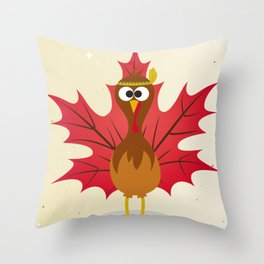 Thanksgiving Tribal Turkey Woodland Nursery Throw Pillow