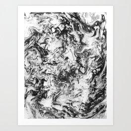 Suminagashi Series (Wei Qi) 卫气 Art Print