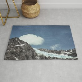mountains and ice - Fellaria Glacier Italy Rug