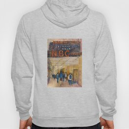 The Rock - Rainbow Room - New York City  Original Watercolor Print Hoody
