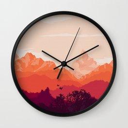 Warm Skies Wall Clock