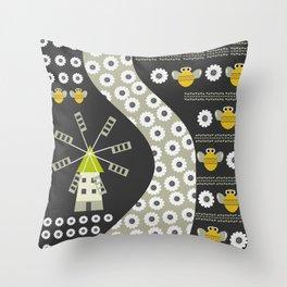 Buzz in spring Throw Pillow