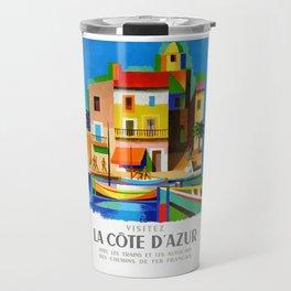 1963 Cote d'Azur French Riviera Vintage World Travel Poster Travel Mug