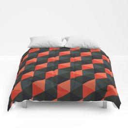 Spooky Cubes Comforters
