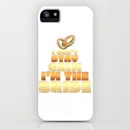 Bride To Be Bachelorette & Hen Party iPhone Case
