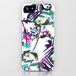 Colourful painted plants iPhone Case