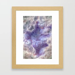 purple agate 0743 Framed Art Print
