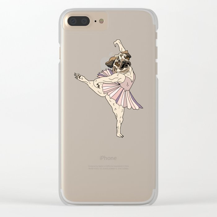 Dog Ballerina Tutu - Pug Clear iPhone Case