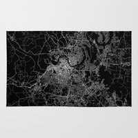 nashville Area & Throw Rugs featuring nashville map by Line Line Lines