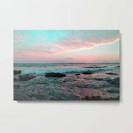 Pink and Blue Sunset Over Newport Rhode Island No2 Metal Print