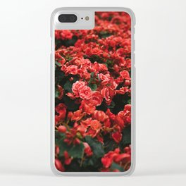 red flora #society6 #decor #buyart Clear iPhone Case