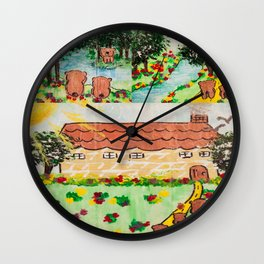 Wood Dominoes - Colour - #1 Wall Clock