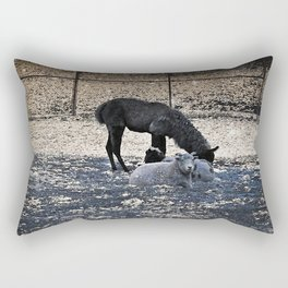 The Story of the Goat, the Llama, and the Sheep Rectangular Pillow