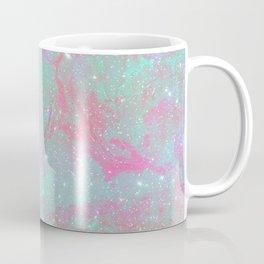 Teal Pink Marble Stars Coffee Mug