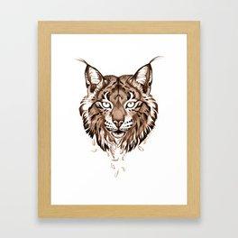 Iberian Lynx: Drifting Framed Art Print