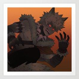Werewolf Bakugou Art Print