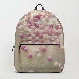 Grainy pink cake sprinkles Backpack