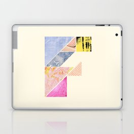 Collaged Tangram Alphabet - F Laptop & iPad Skin