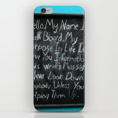 Cheeky Chalk Board iPhone & iPod Skin