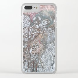 The Winged Octopus Tamer Clear iPhone Case