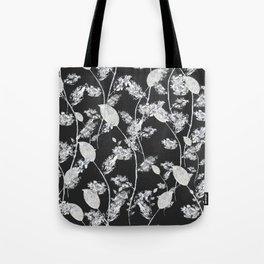 white leaf pattern Tote Bag