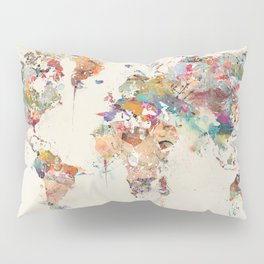 world map watercolor Pillow Sham