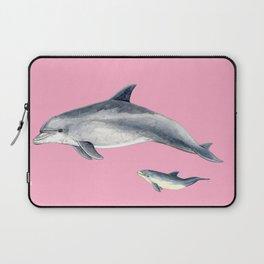 Bottlenose dolphin pink Laptop Sleeve