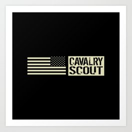 Cavalry Scout (Black Flag) Art Print