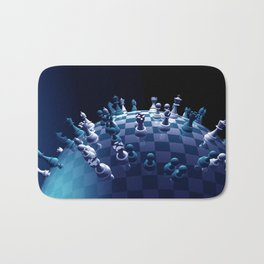 the whole world is in chess Bath Mat