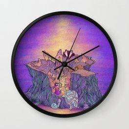 In the mushroom cove Wall Clock