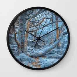 Sapphire Forest Wall Clock