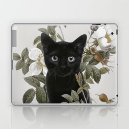 Cat With Flowers Laptop & iPad Skin