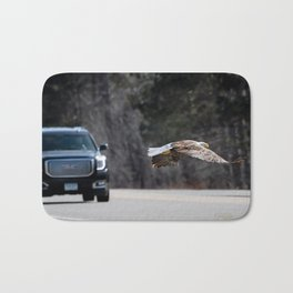 March Eagle over the highway Bath Mat