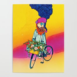 Colourful bicycle Poster