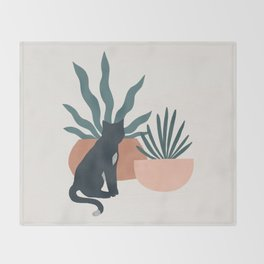 flora and fauna Throw Blanket