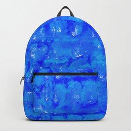 Tie Dye Shibori Water Cubes in Ocean Blue Backpack