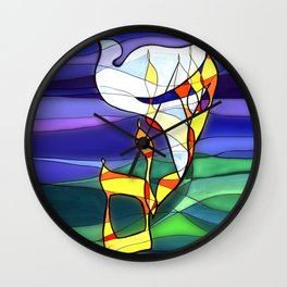Shalom Peace Dove Wall Clock