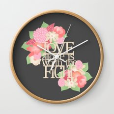 Worth the Fight Wall Clock