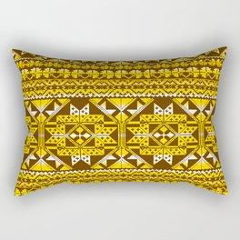 geo aztec in yellow Rectangular Pillow