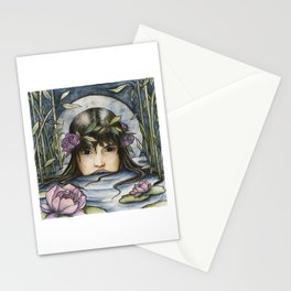 The Lotus-Wreathed Naiad Stationery Cards