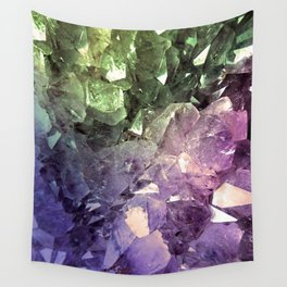 Two Tone Crystal Geode Wall Tapestry