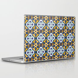 Yellow and Blue Moroccan Tile Laptop & iPad Skin