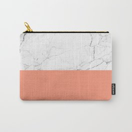 peach marble orange and white marble Carry-All Pouch
