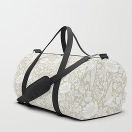 Vintage Elegant White Ivory Cream Swallows Floral Duffle Bag