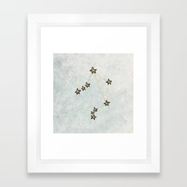 Libra x Astrology x Zodiac Framed Art Print
