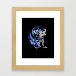 Pug Print Framed Art Print