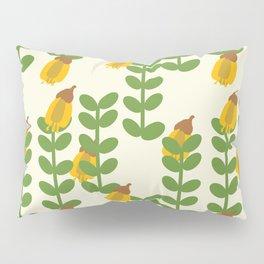 Retro Kowhai Pattern Pillow Sham