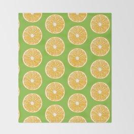 Orange slices Throw Blanket