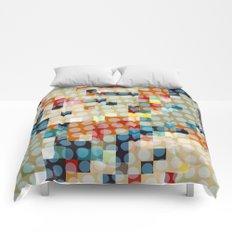 dots meet pixels Comforters